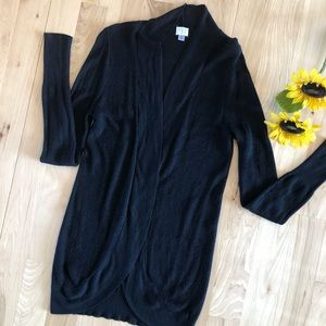 A New Day Black Curved Hem Longer Cardigan Size M